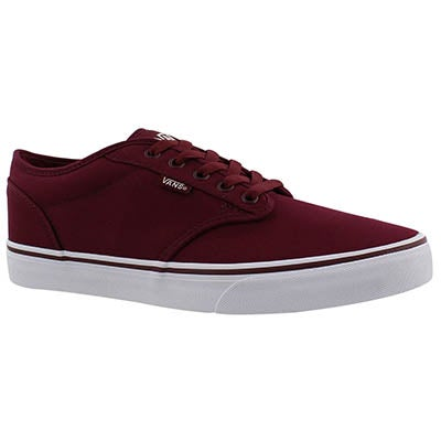 Vans Men's ATWOOD wine canvas lace up sneakers