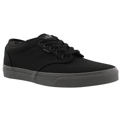 Vans Men's ATWOOD black/grey canvas lace up sneakers