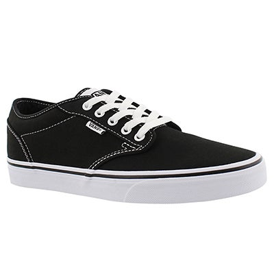 Mns Atwood blk/wht canvas laceup sneaker
