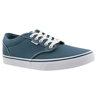 Vans Men's ATWOOD blue canvas lace up sneakers