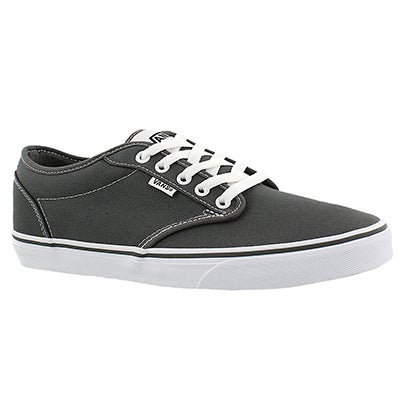 Vans Men's ATWOOD pewter canvas lace up sneakers