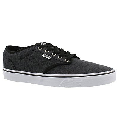 Vans Men's ATWOOD distressed black lace up sneakers