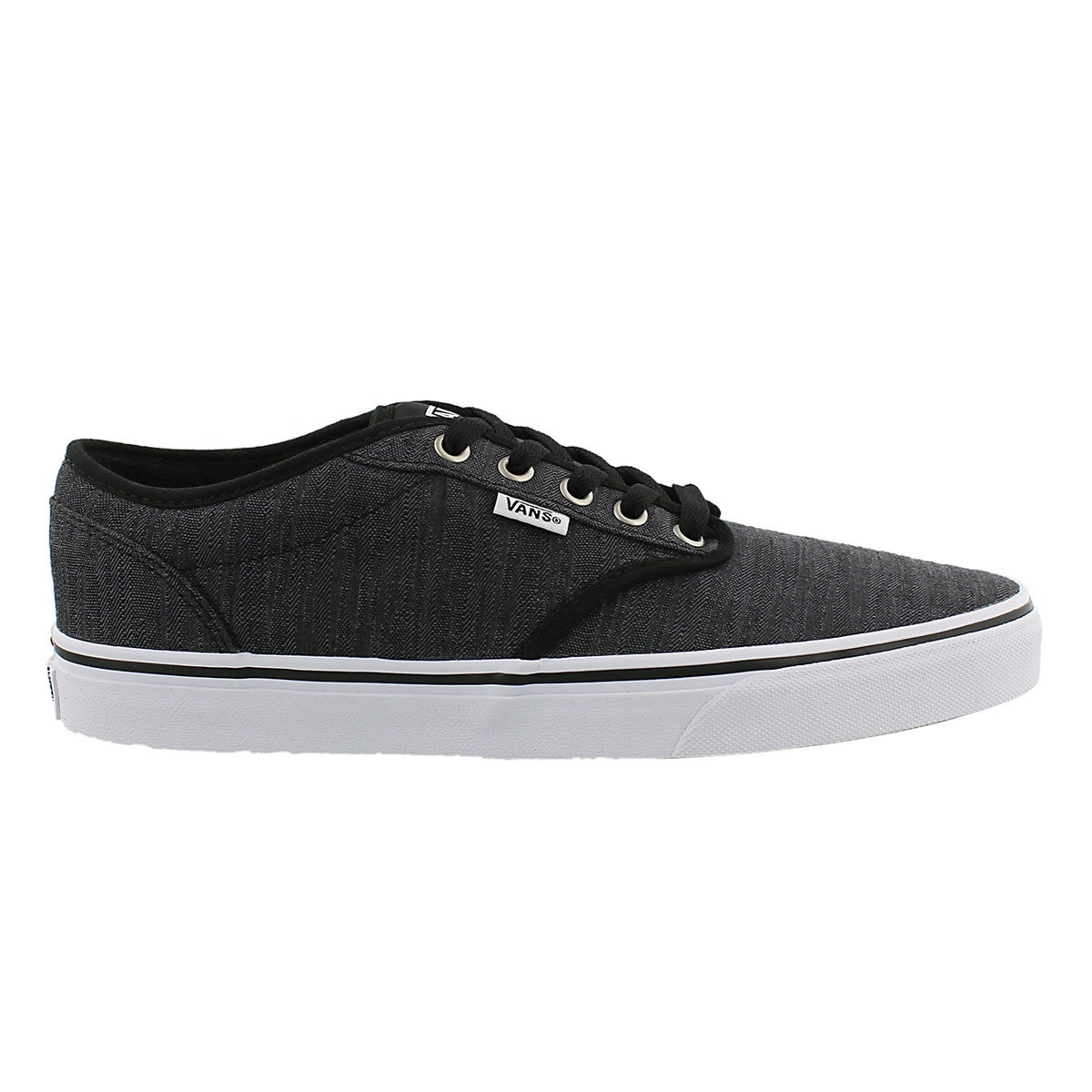 Mns Atwood blk distressed laceup sneaker