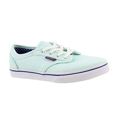 Vans Girls' ATWOOD LOW sea green lace up sneakers