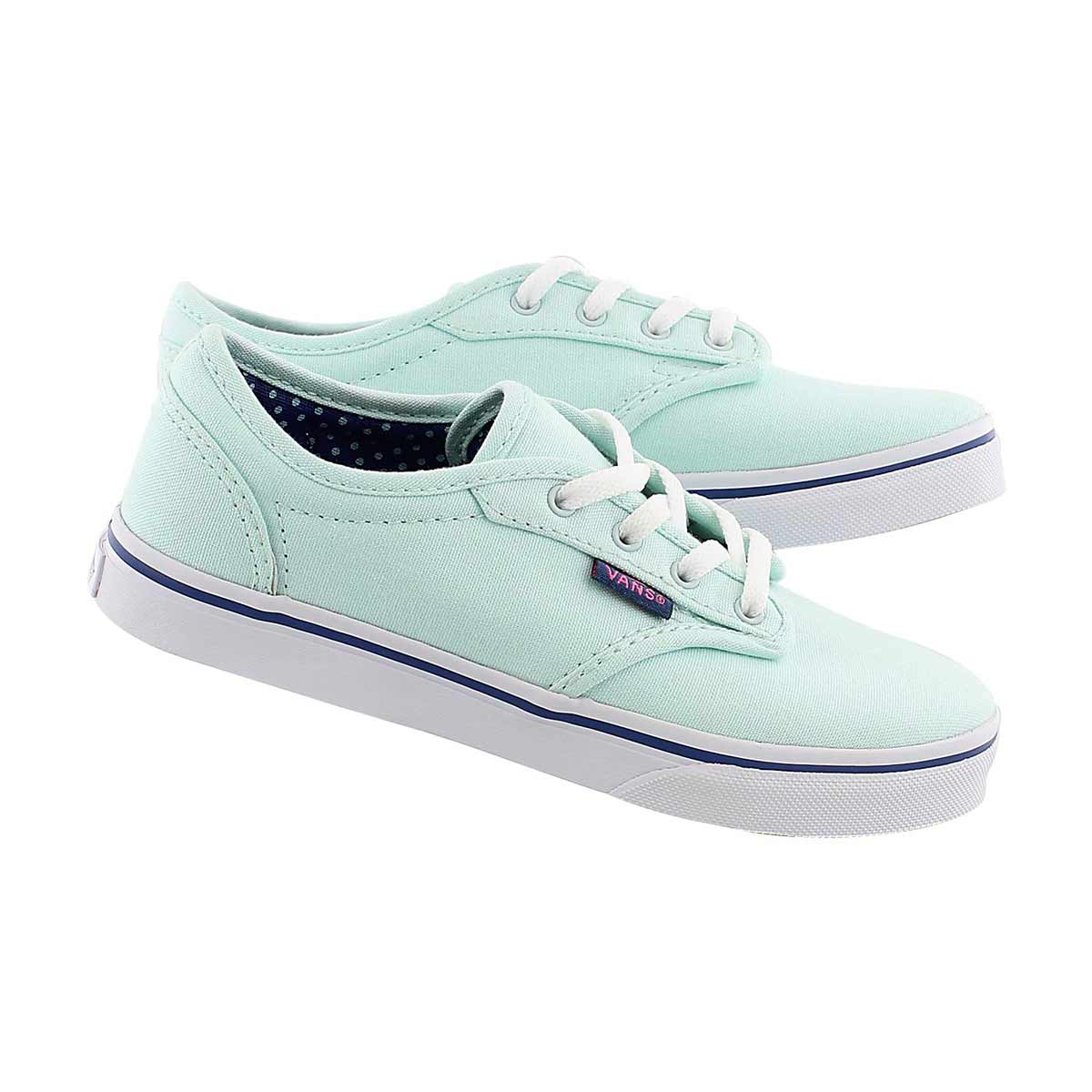 Grls Atwood Low sea grn lace up sneaker