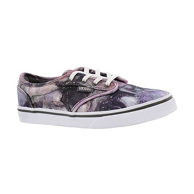 Vans Girls' ATWOOD LOW galaxy lace up sneakers