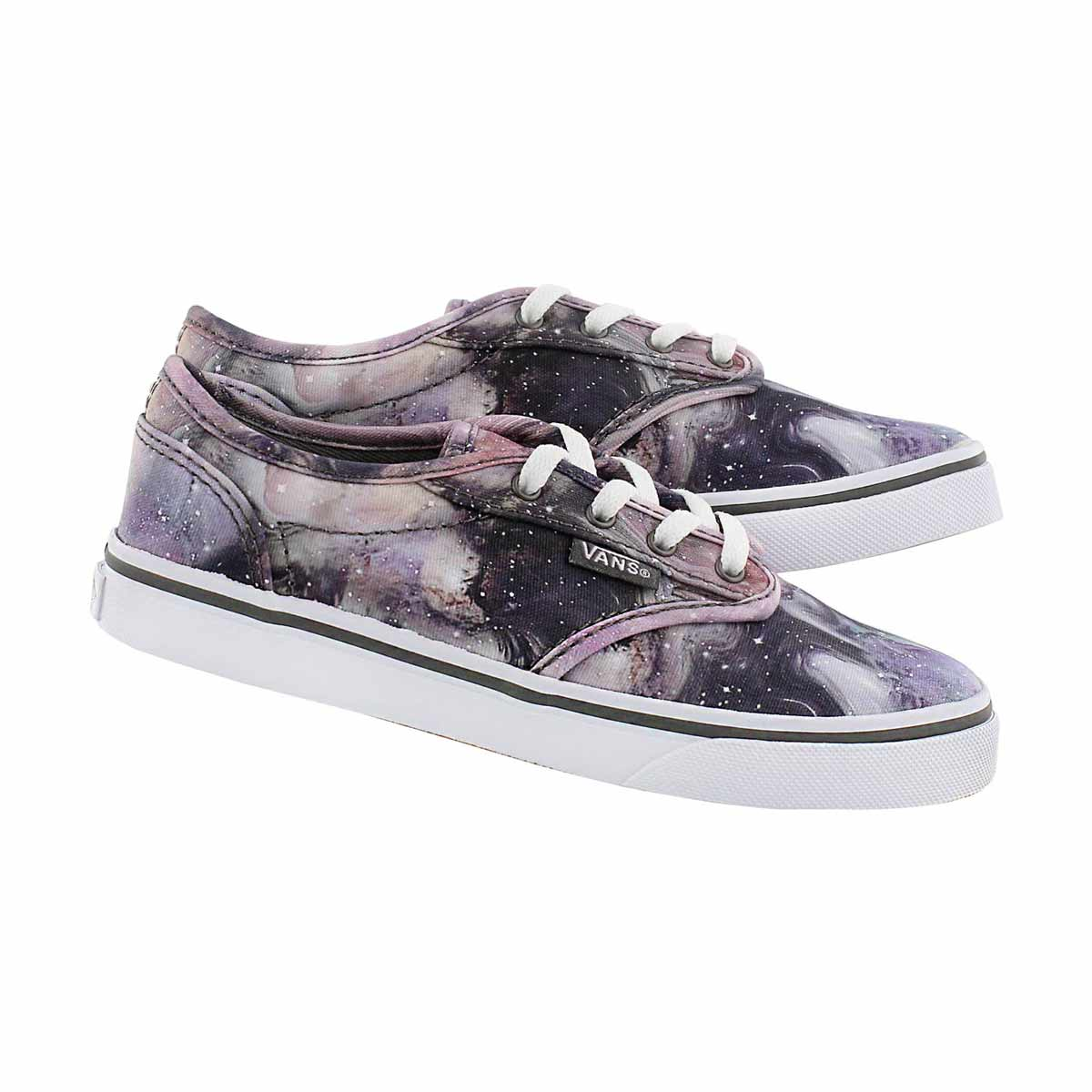 Grls Atwood Low galaxy lace up sneaker