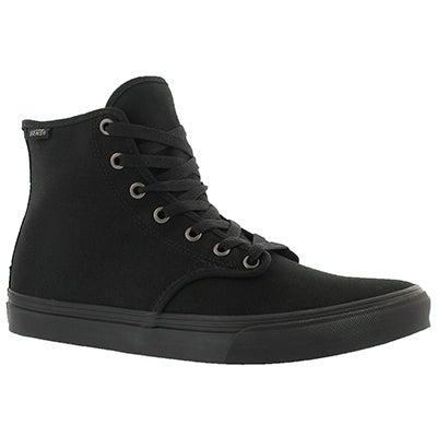 Vans Women's CAMDEN HI ZIP black lace up sneakers