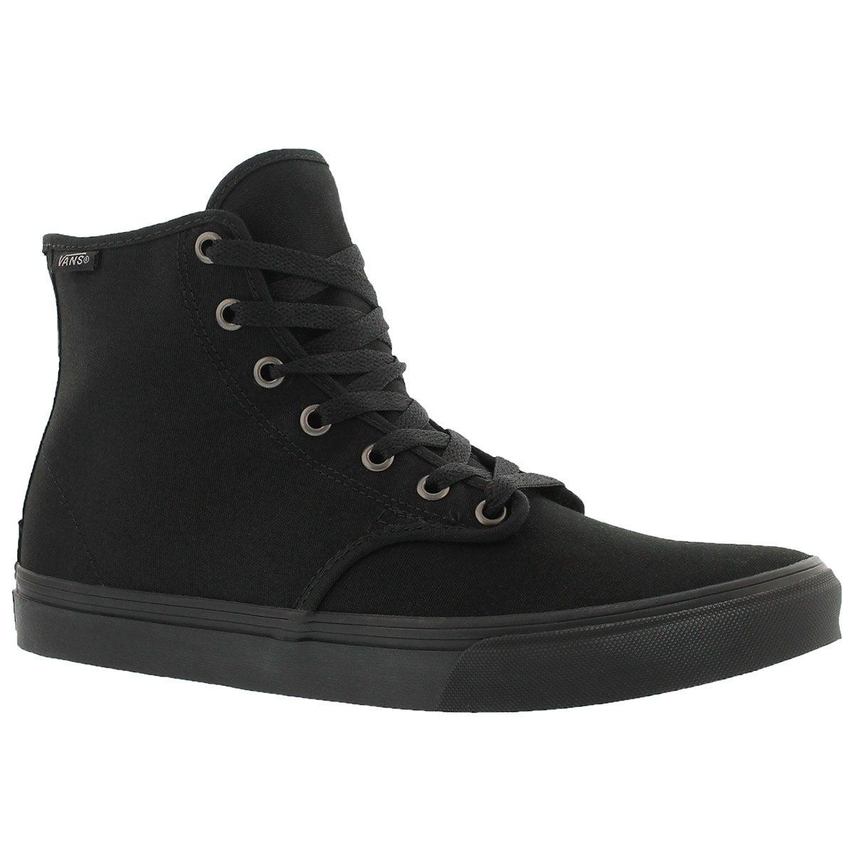 Women's CAMDEN HI ZIP black lace up sneakers