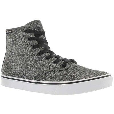 Vans Women's CAMDEN HI ZIP grey lace up sneakers