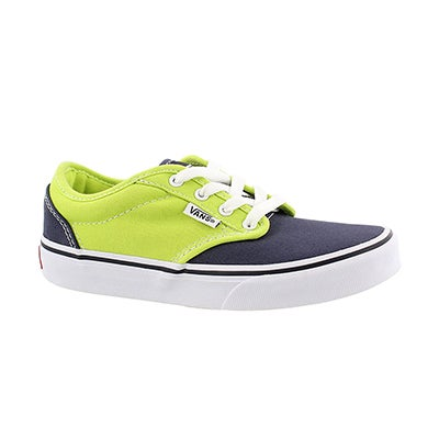 Vans Boys' ATWOOD lime/blue lace up sneakers