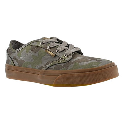 Vans Boys' ATWOOD camo print lace up sneakers