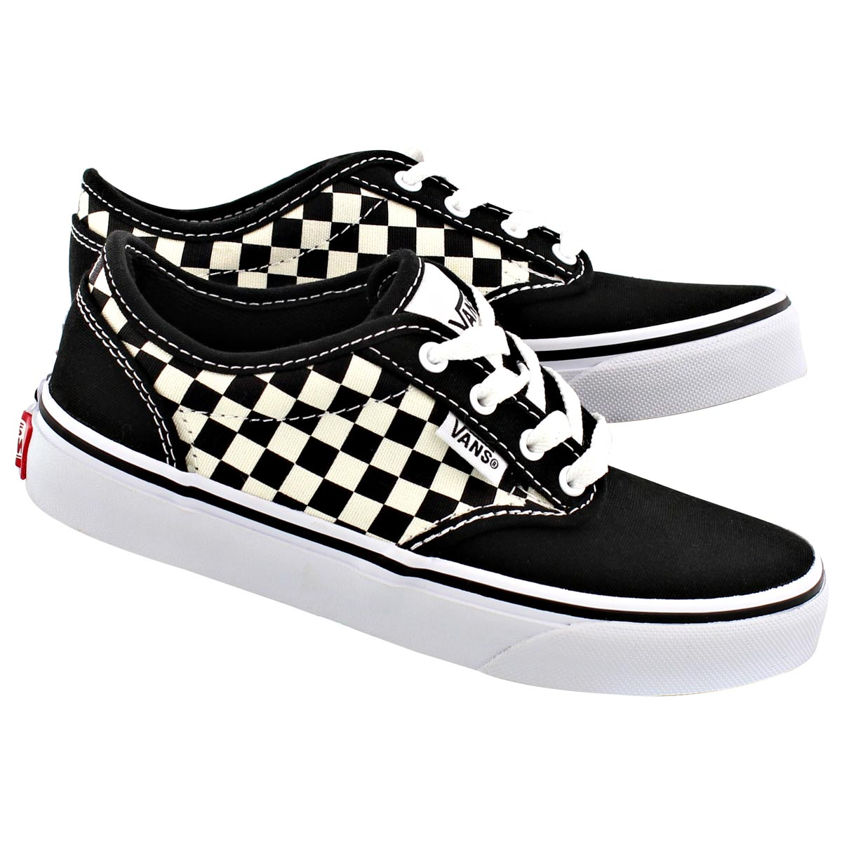Bys Atwood blk checkered lace up sneaker