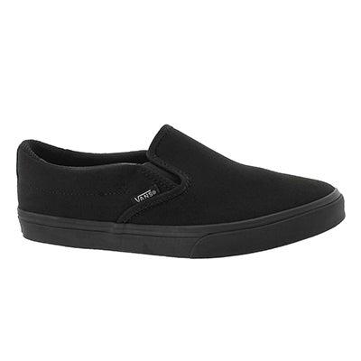 Lds Asher Low blk/blk slip on sneaker