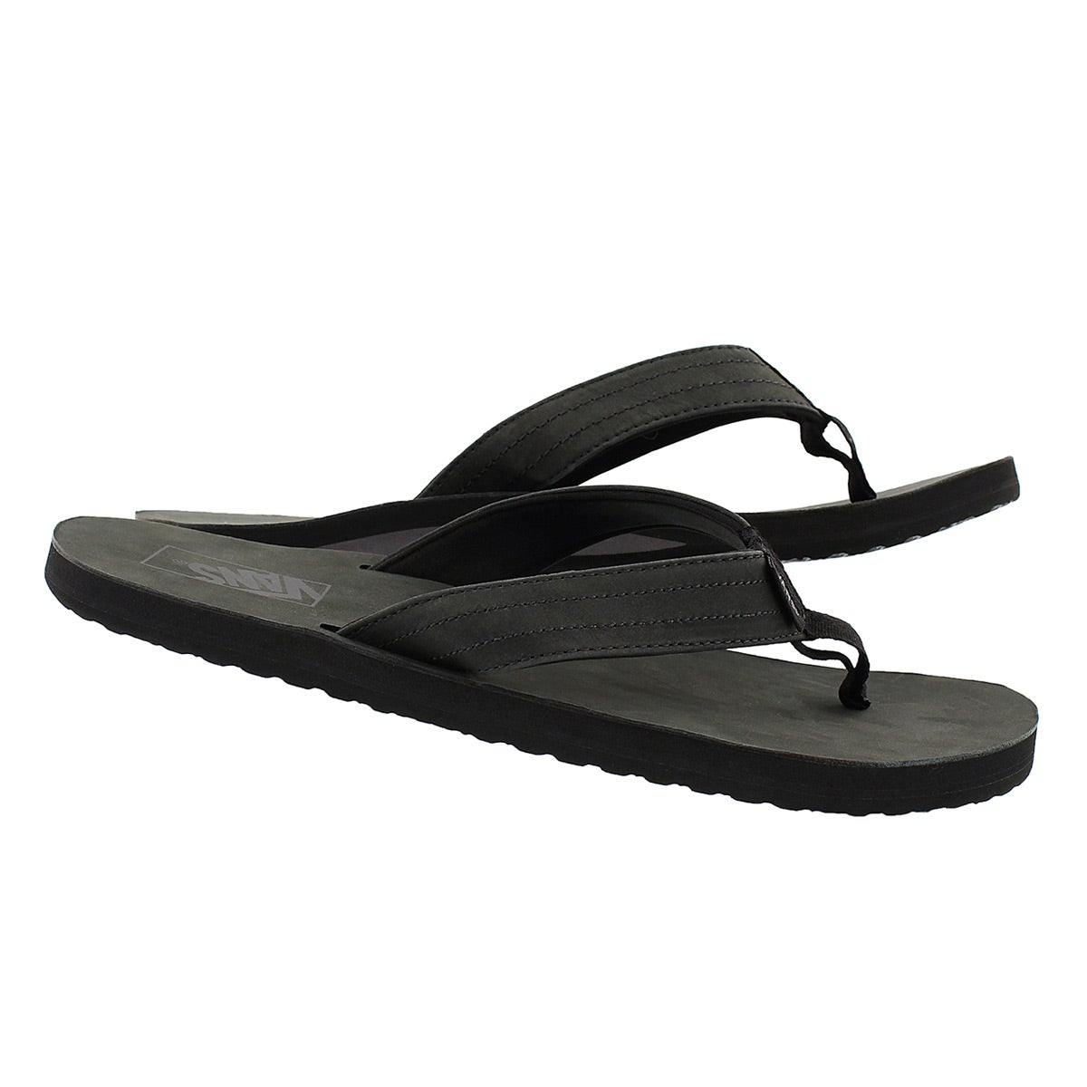 Sandale tong Lancaster, noir, hommes