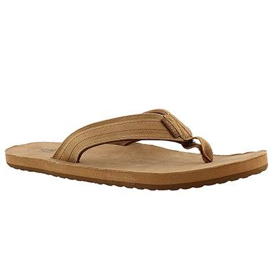 Sandale tong Lancaster, havane, hommes