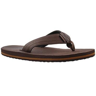 Sandale tong Palmdale, brun/noir, hommes
