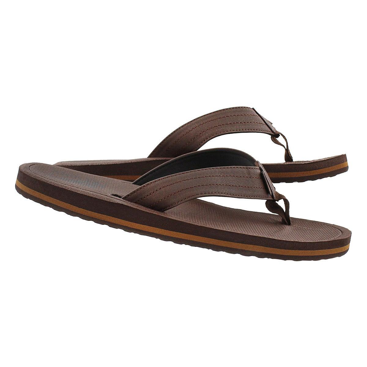 Mns Palmdale brown/black flip flop