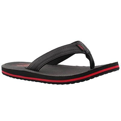 Vans Men's PALMDALE black/red flip flops