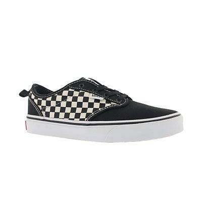 Vans Boys' ATWOOD black/white slip on sneaker