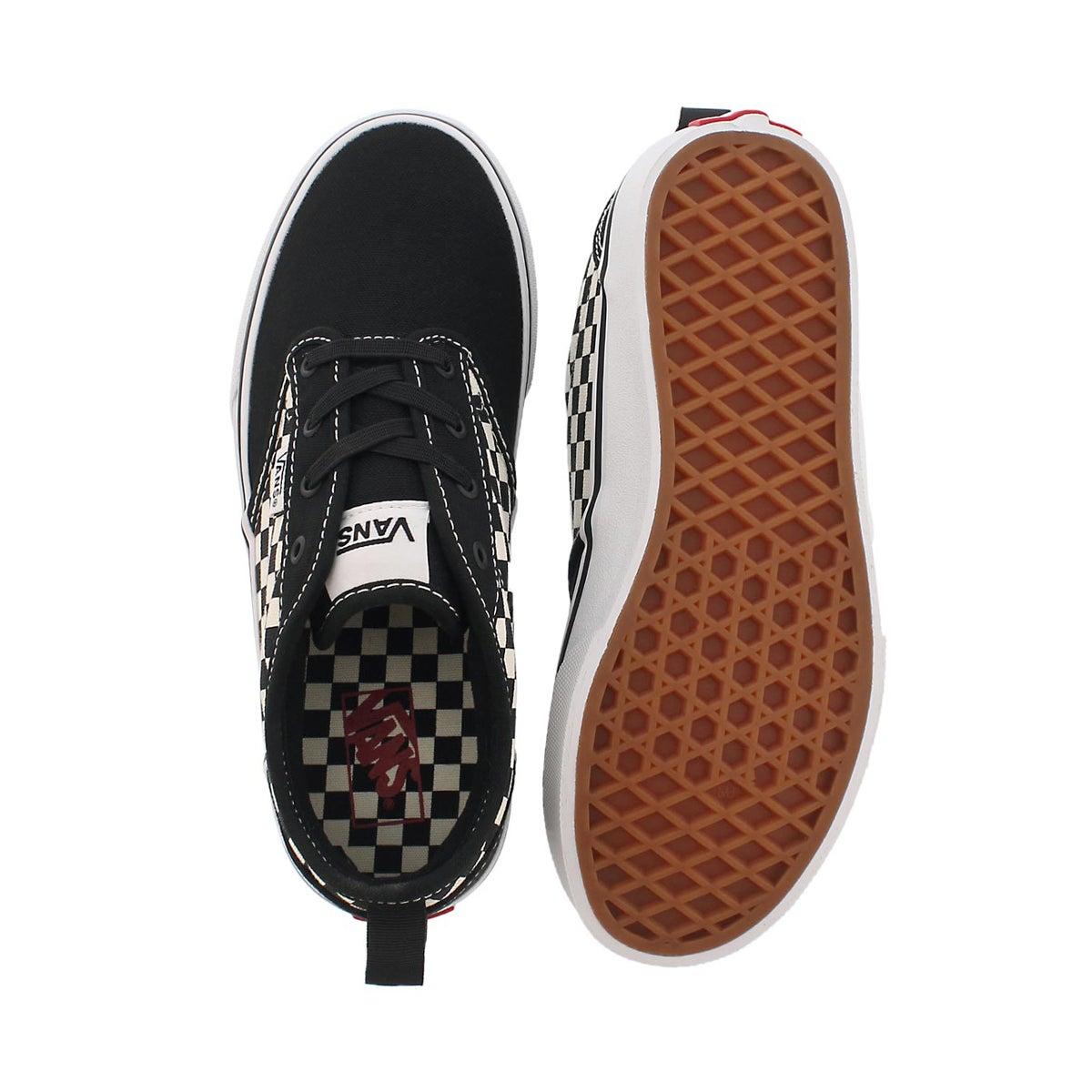 Bys Atwood blk/wht chckrs slipon sneaker