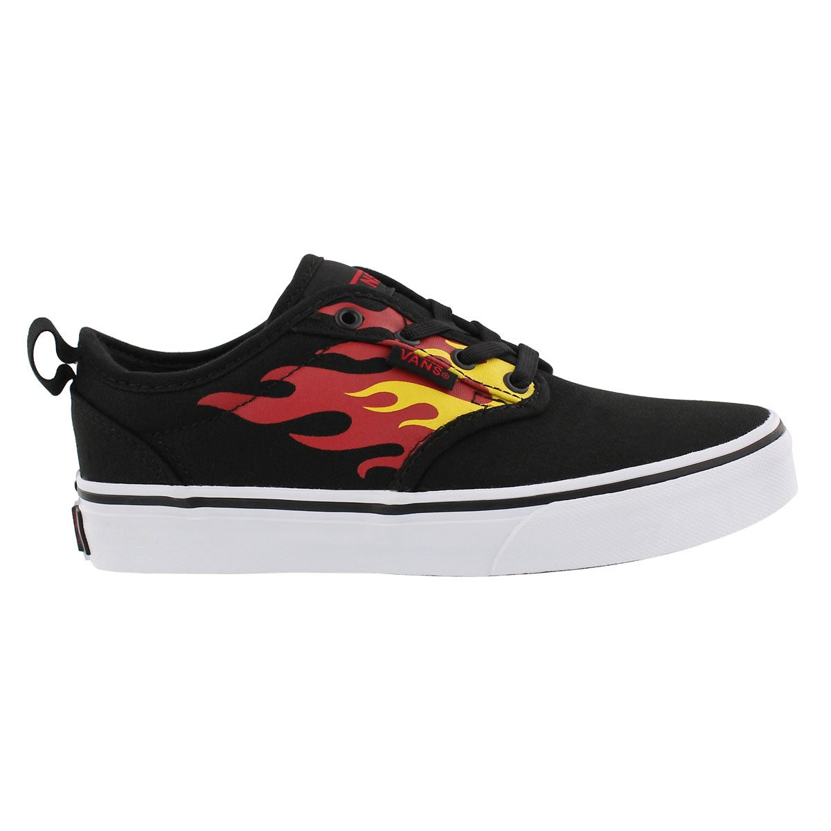 Bys Atwood blk/flame slip on sneaker