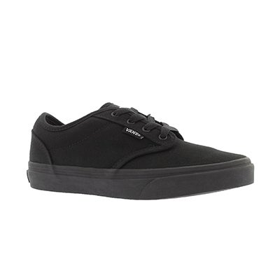 Vans Boys' ATWOOD black canvas lace up sneaker