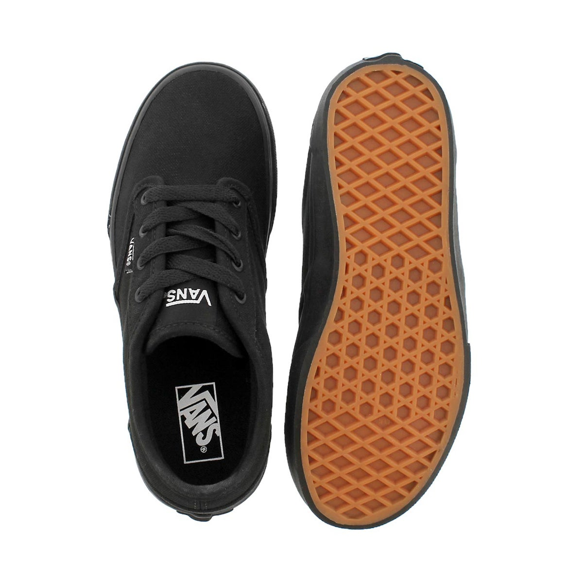 Bys Atwood blk/blk cnvs lace up sneaker