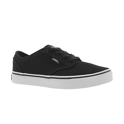 Bys Atwood blk/wht cnvs lace up sneaker