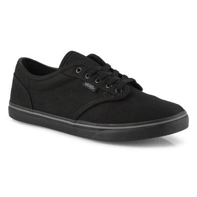 Lds Atwood-Low blk/blk lace up snkr
