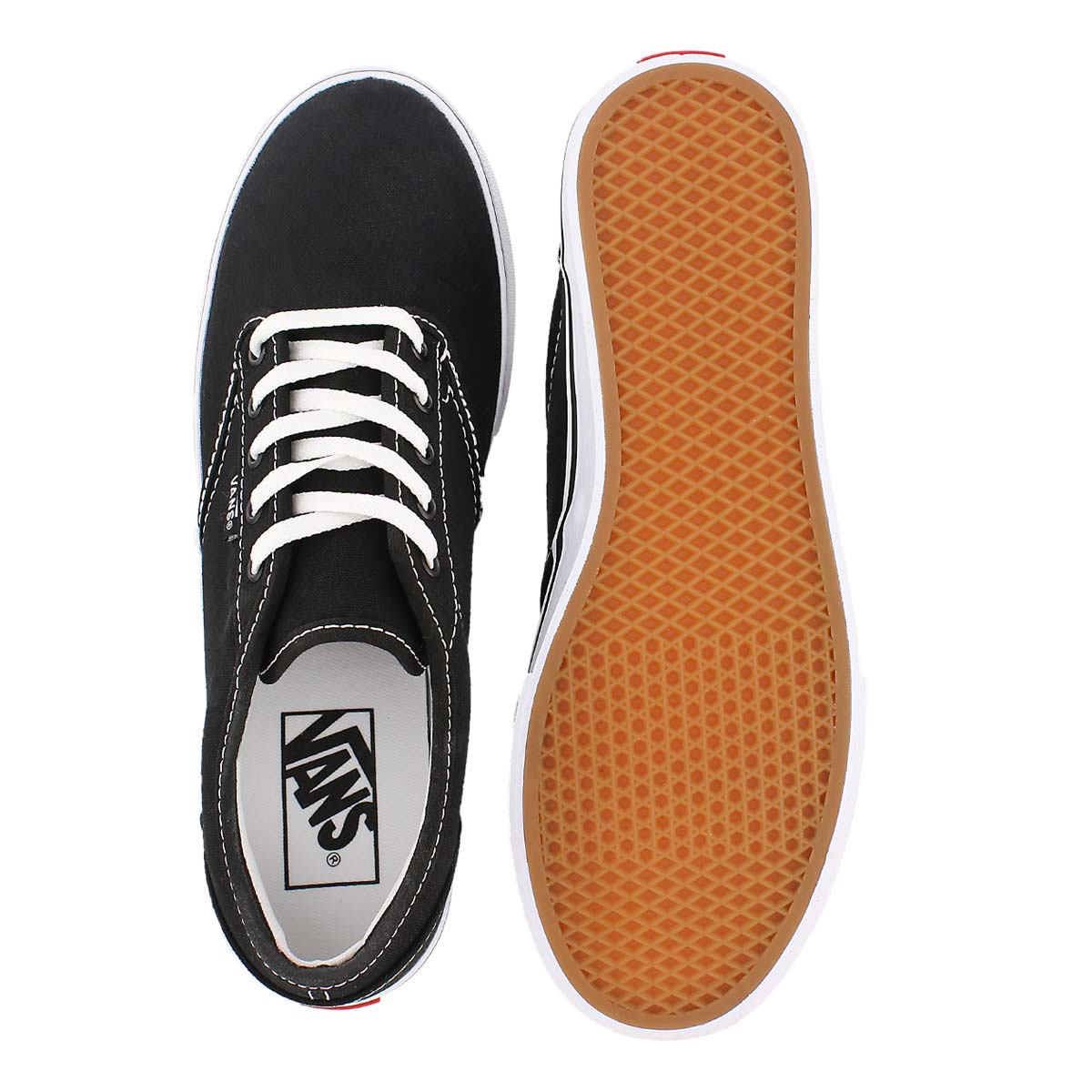 Lds Atwood Low blk/wht lace up sneaker
