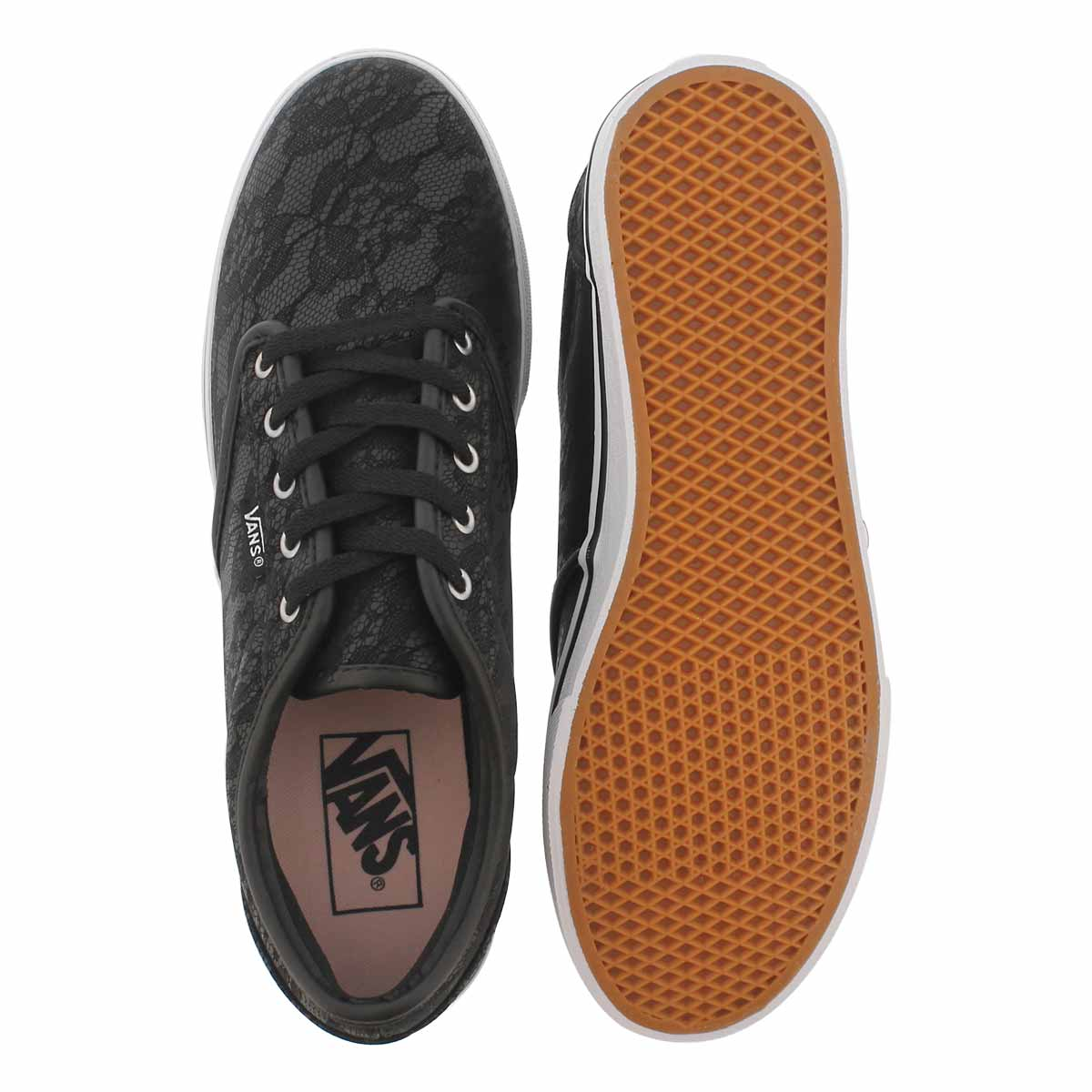 Lds Atwood Low blk lace laceup snkr