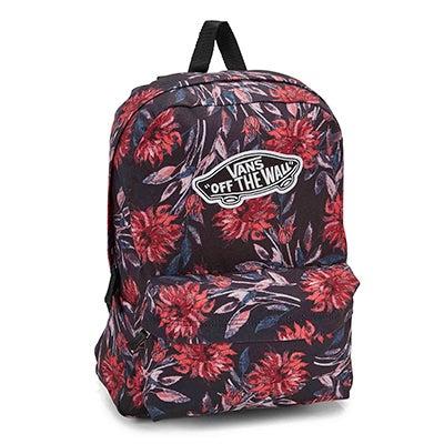 Vans Realm black dahlia backpack