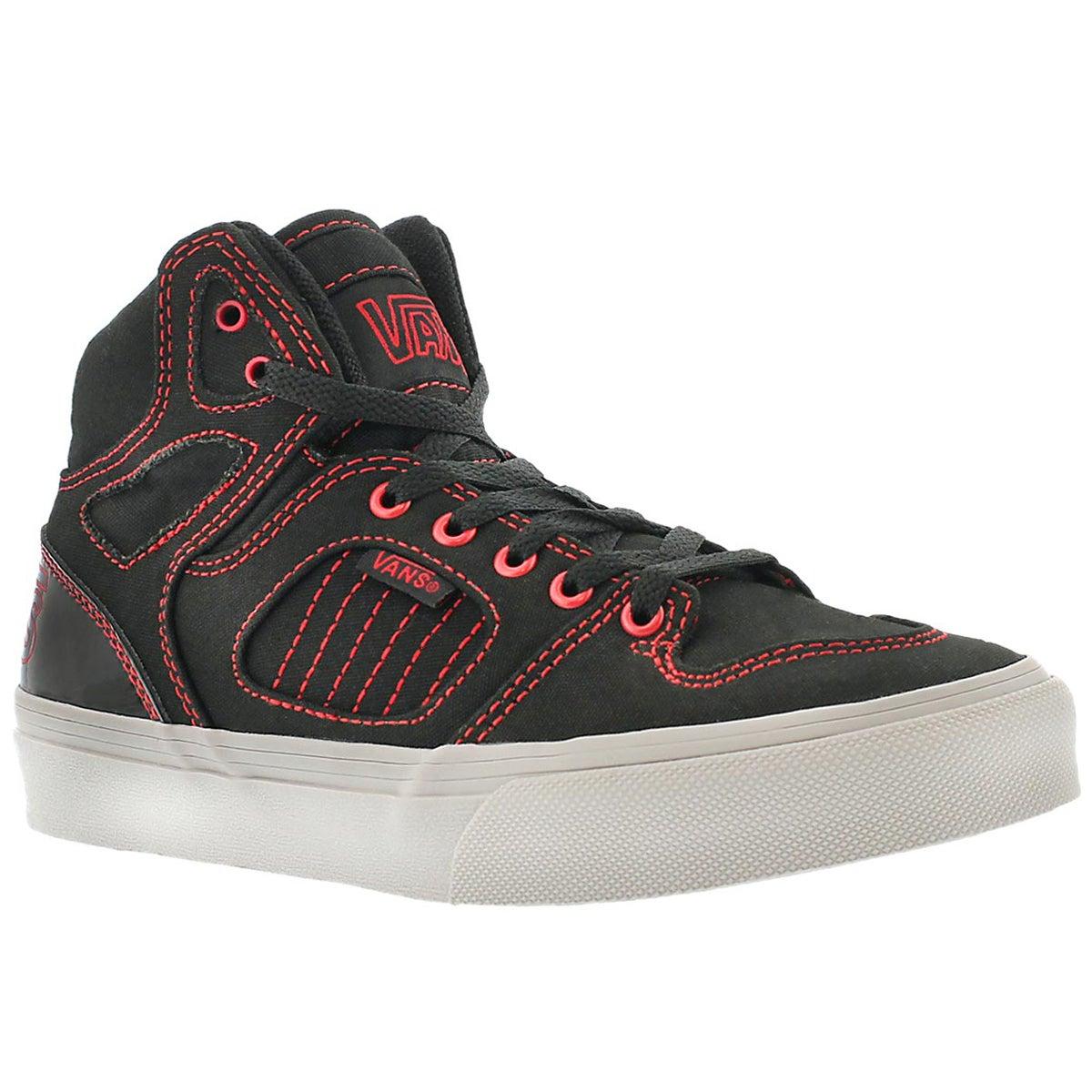 Bys Allred black/red hi-top sneaker