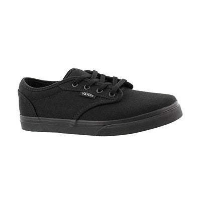 Vans Girls' ATWOOD LOW black lace up sneakers