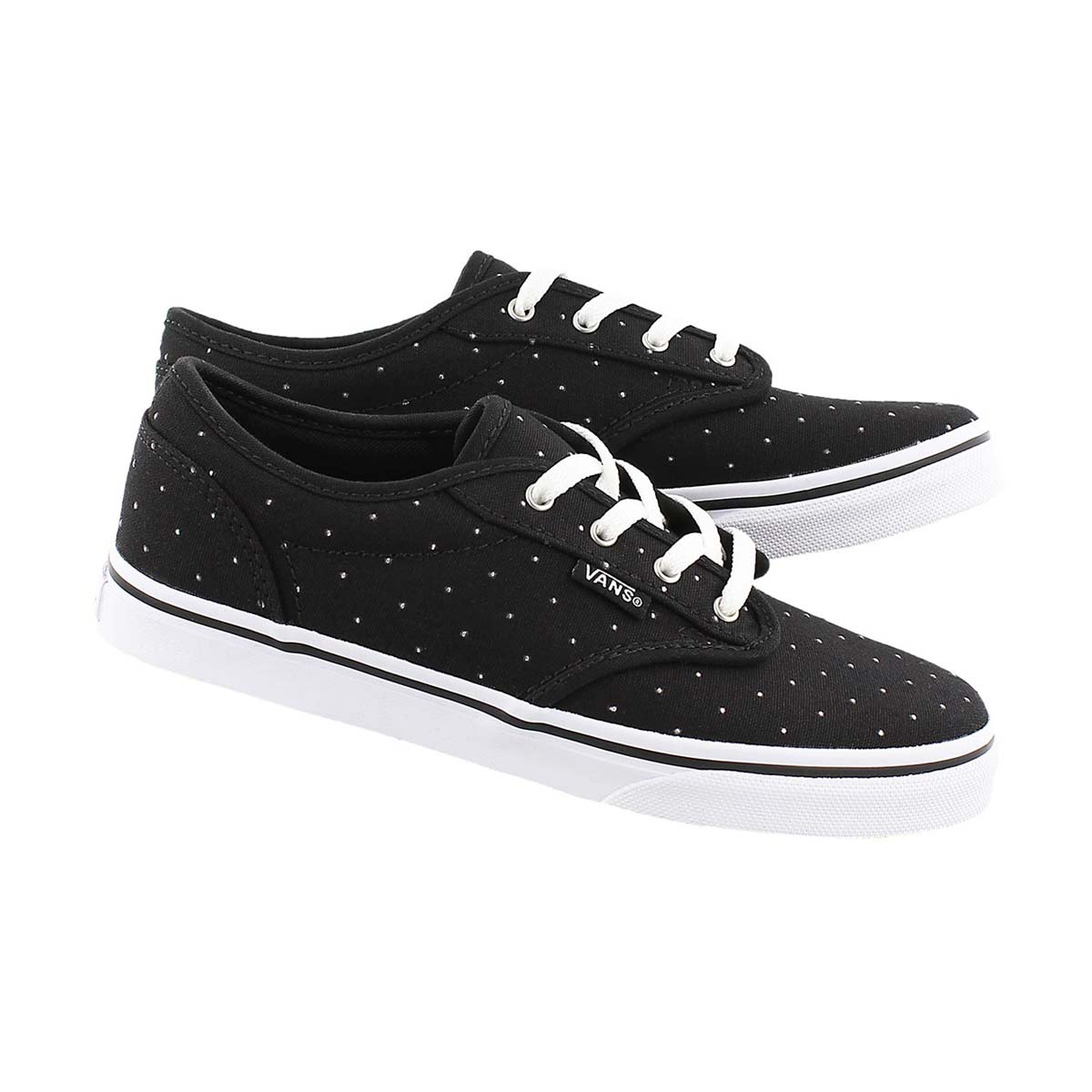 Grls Atwood Low blk stud lace up sneaker