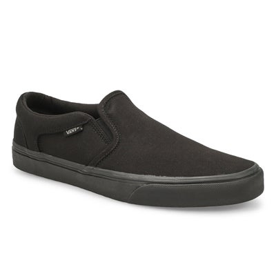 Vans Men's ASHER black slip on sneakers