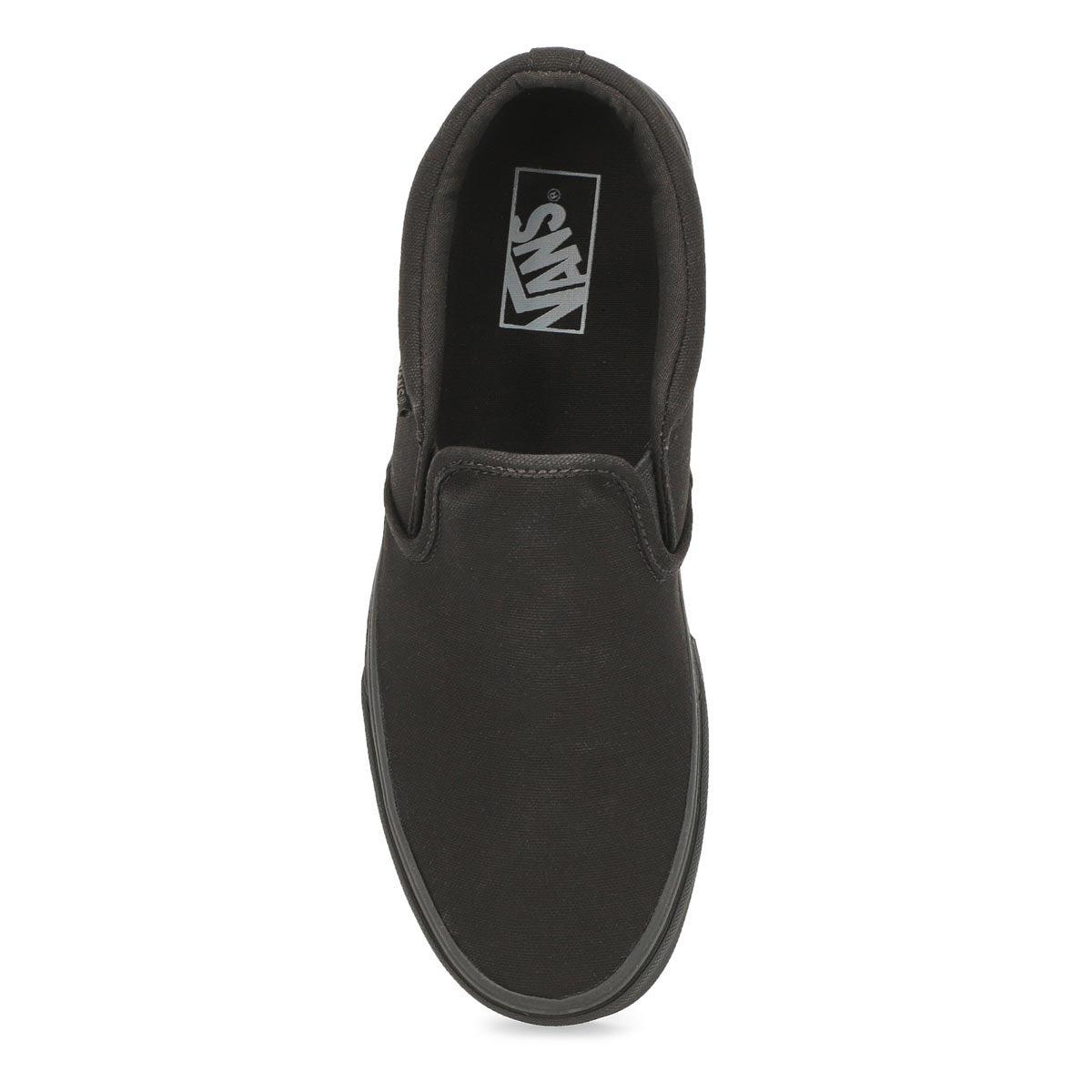 Mns Asher black slip on sneaker