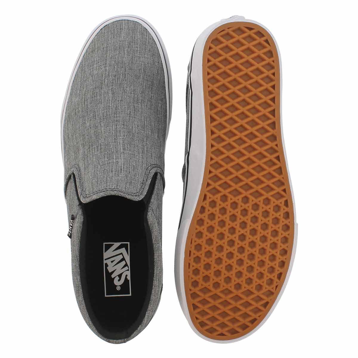 Mns Asher grey slip on sneaker
