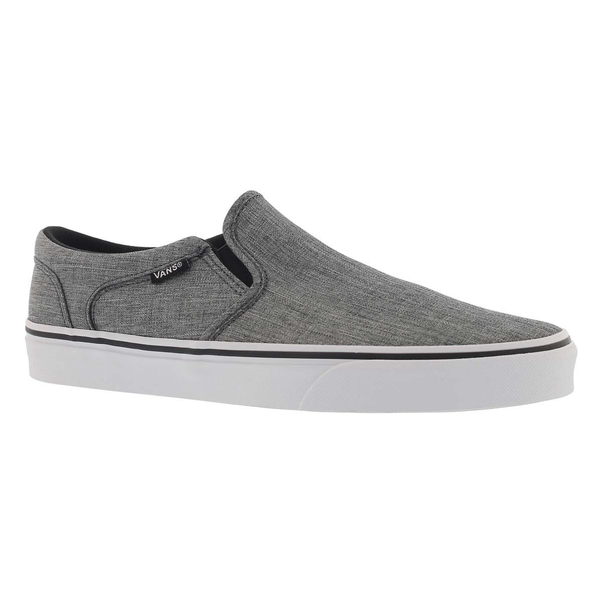 Men's ASHER grey slip on sneakers