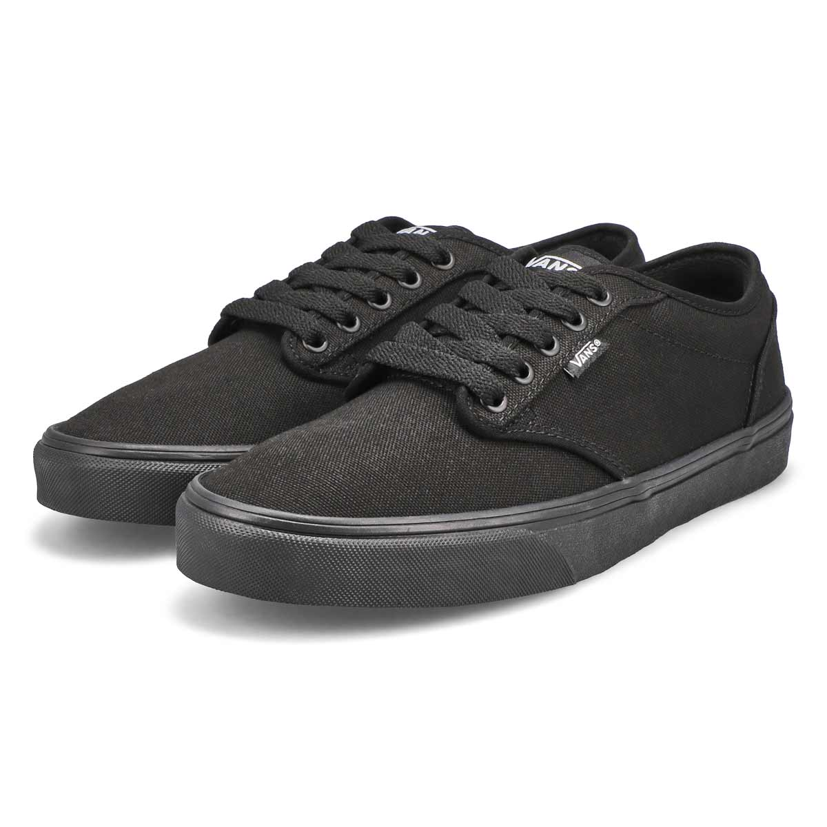 Mns Atwood blk/blk cnvs lace up snkr