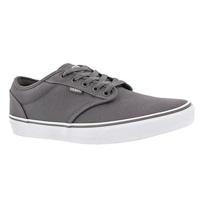 Vans Men's ATWOOD pewter canvas laceup sneakers