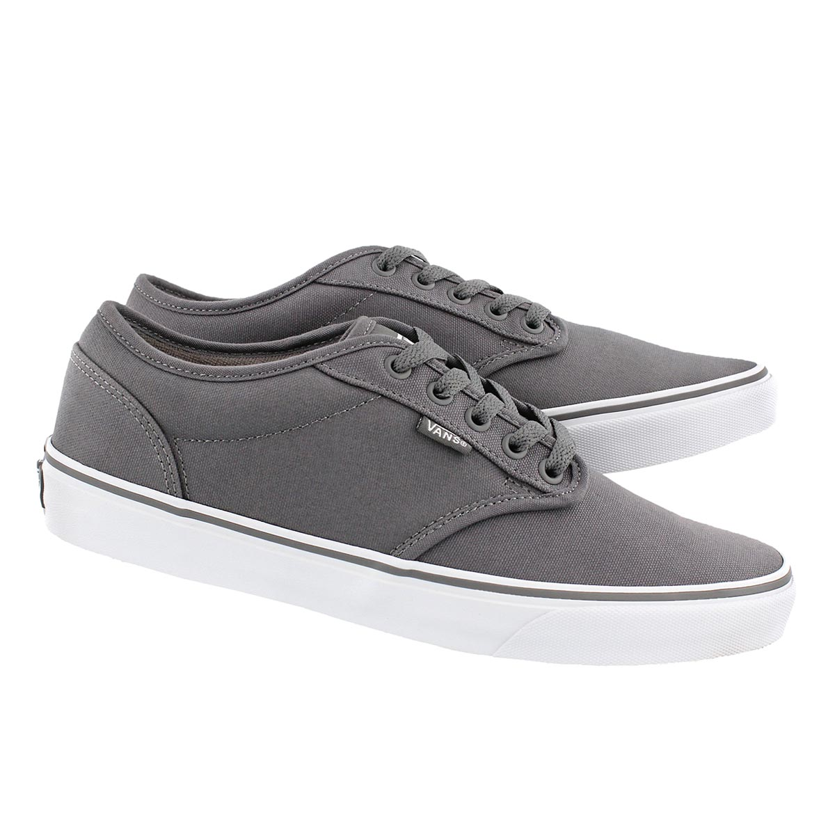 Mns Atwood pewter canvas laceup sneaker