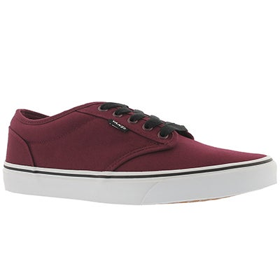 Mns Atwood oxblood canvas laceup sneaker