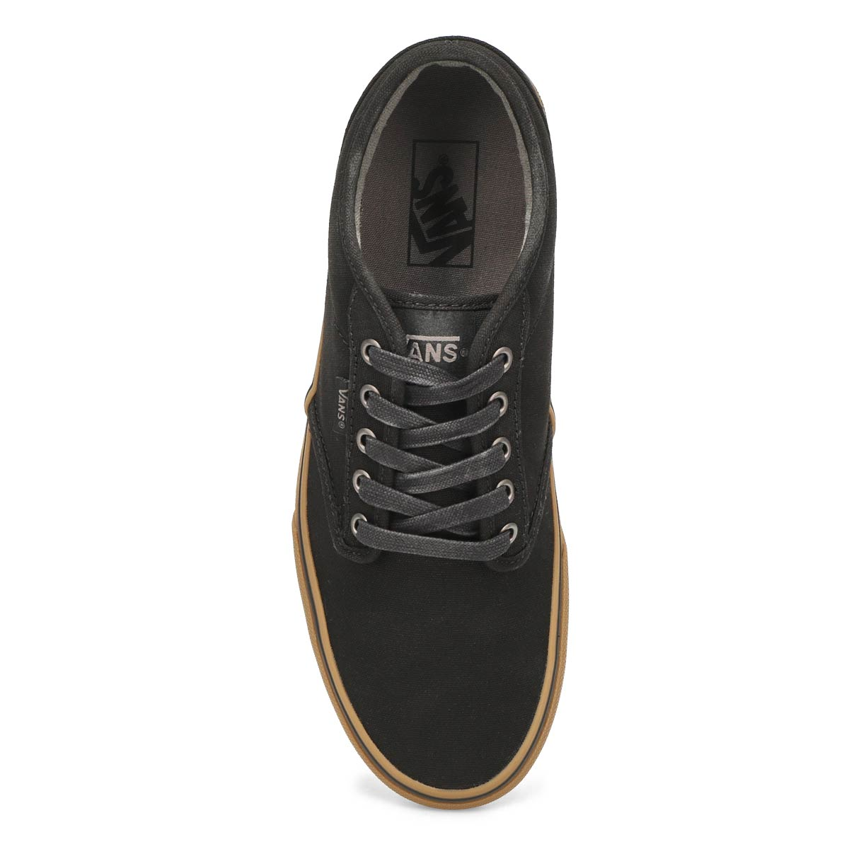 Mns Atwood black/gum cnvs laceup sneaker