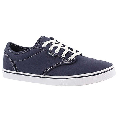 Vans Women's ATWOOD LOW navy lace up sneakers