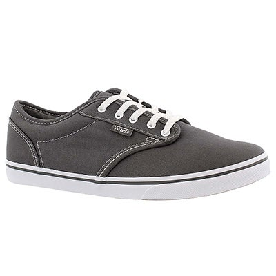 Vans Women's ATWOOD LOW pewter lace up sneakers