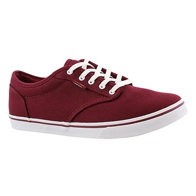 Vans Women's ATWOOD LOW burgundy lace up sneakers