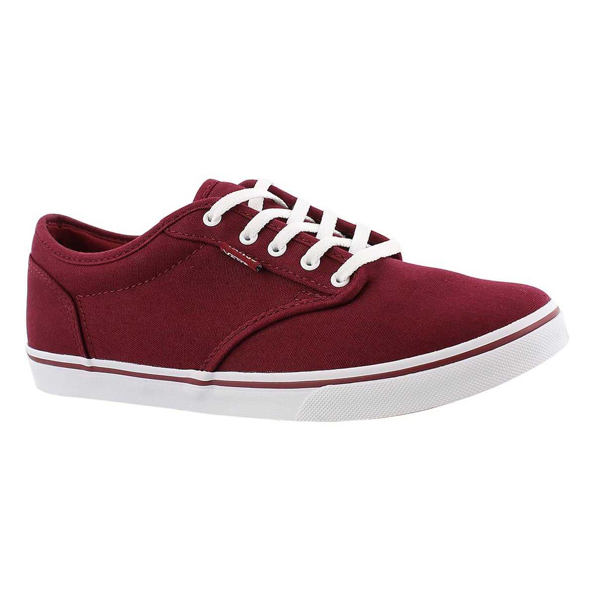 Women's ATWOOD LOW burgundy lace up sneakers