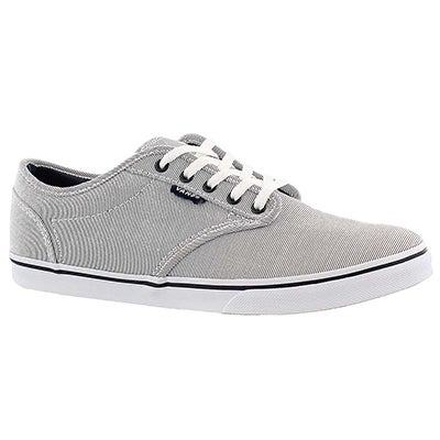 Vans Women's ATWOOD LOW grey lace up sneakers